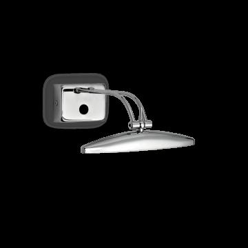 Настенный светильник для подсветки картин Ideal Lux MIRROR-20 AP2 CROMO 017334, 2xG9x40W, хром, металл