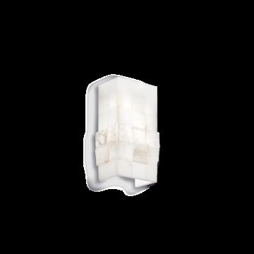 Настенный светильник Ideal Lux STONES AP1 015125, 1xE27x60W, белый, металл, гипс