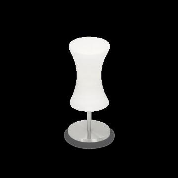 Настольная лампа Ideal Lux ELICA TL1 014593, 1xE14x40W, никель, белый, металл, стекло