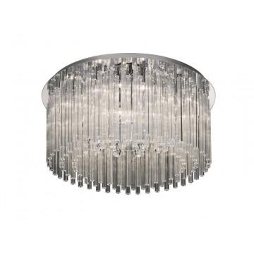 Потолочная люстра Ideal Lux ELEGANT PL12 019468, 12xG9x40W, хром, прозрачный, металл, стекло