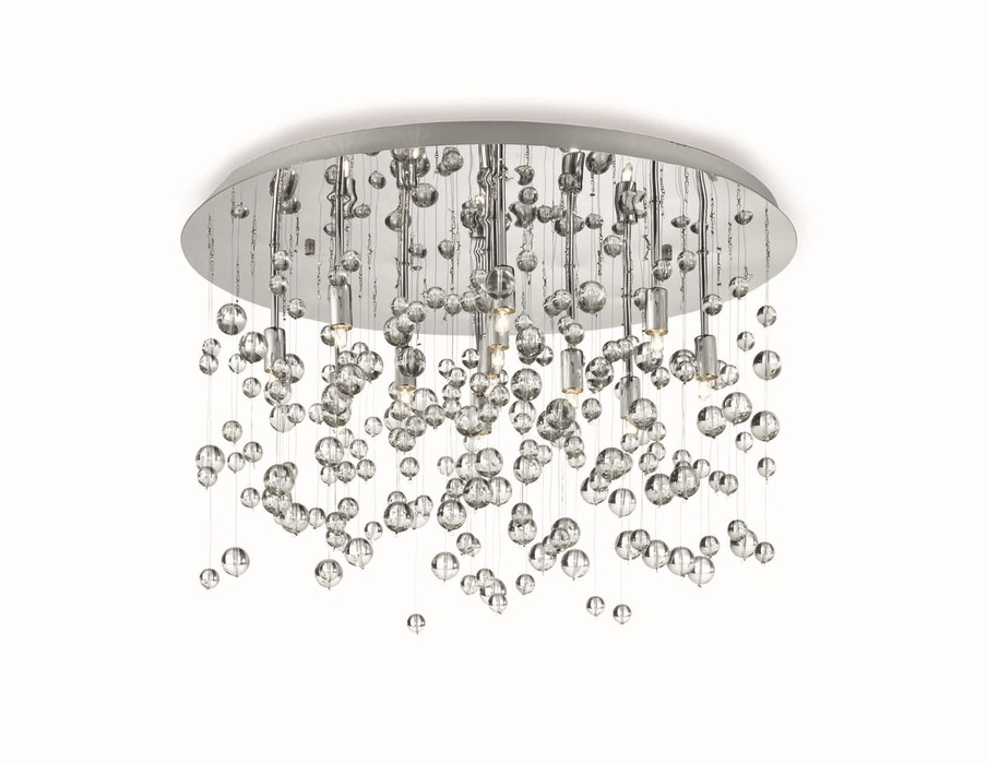 Люстра-каскад Ideal Lux NEVE PL8 CROMO 022222, 8xG9x40W, хром, прозрачный, металл, стекло - фото 1