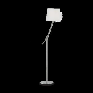 Торшер Ideal Lux REGOL PT1 BIANCO 014609, 1xE27x60W, никель, белый, металл, текстиль