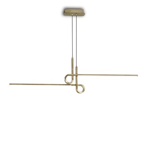 Подвесной светильник Mantra Cinto 6122, бронза, белый, металл, пластик