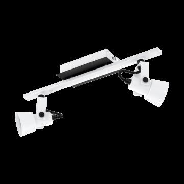 Потолочный светильник с регулировкой направления света Eglo Trillo 97372, 2xGU10x5W, белый, черно-белый, металл