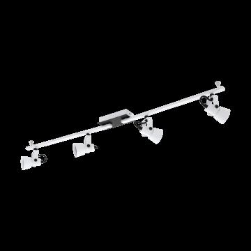 Потолочный светильник с регулировкой направления света Eglo Trillo 97374, 4xGU10x5W, белый, черно-белый, металл