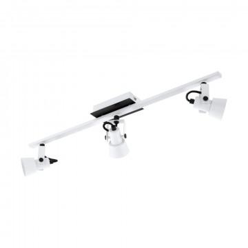 Потолочный светильник с регулировкой направления света Eglo Trillo 97373, 3xGU10x5W, белый, черно-белый, металл