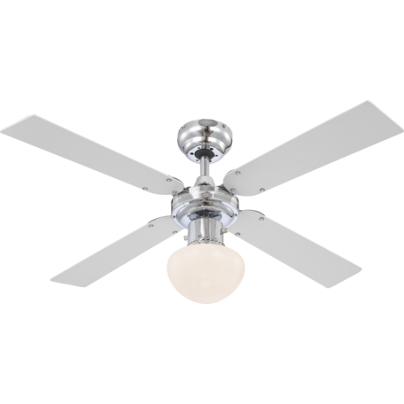Потолочный светильник-вентилятор Globo Champion 0330, 1xE27x60W, дерево, металл, стекло