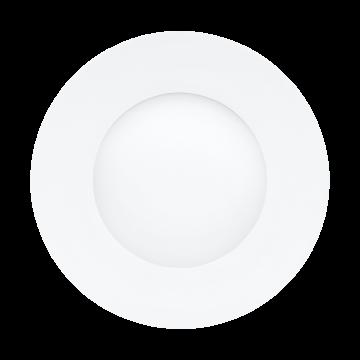 Встраиваемая светодиодная панель Eglo Fueva 1 96242, IP44, LED 2,7W 3000K 300lm, хром, металл с пластиком, пластик