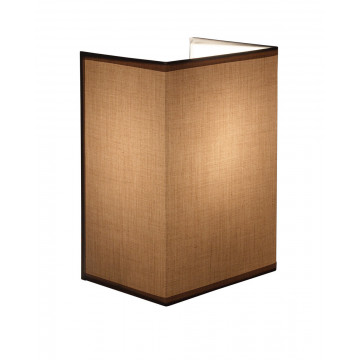 Настенный светильник Topdecor Crocus Glade A1 10 05, 1xE14x40W, белый, коричневый, металл, текстиль