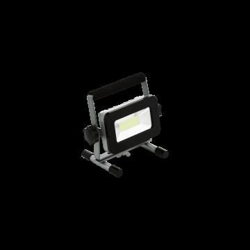 Светодиодный прожектор Eglo Piera 2 98183, IP44, LED 20W 6000K 1700lm, черный, металл, металл со стеклом/пластиком