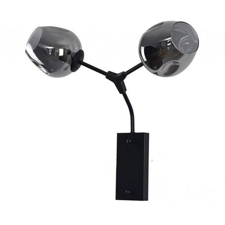 Бра Kink Light Нисса 07512-2,19, 2xE27x40W, черный, дымчатый, металл, стекло