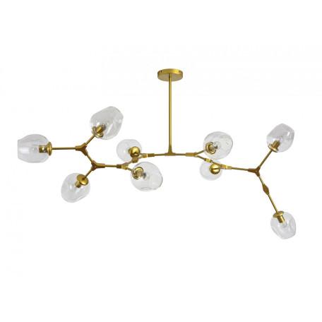 Люстра на составной штанге Kink Light Нисса 07512-9,33(21), 9xE27x40W, золото, прозрачный, металл, стекло