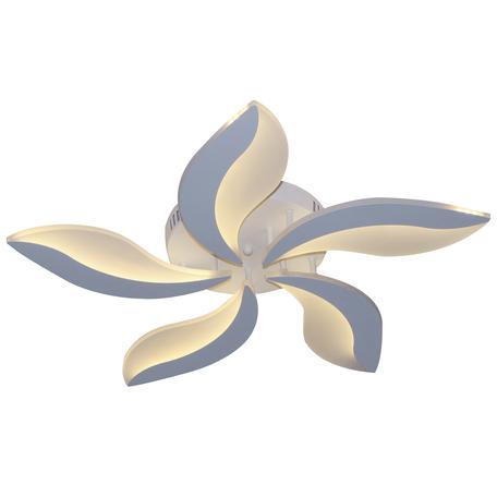 Потолочная светодиодная люстра Kink Light Фрезия 05810-5,01, LED 42W 3000-6000K CRI>80, белый, металл, металл со стеклом/пластиком