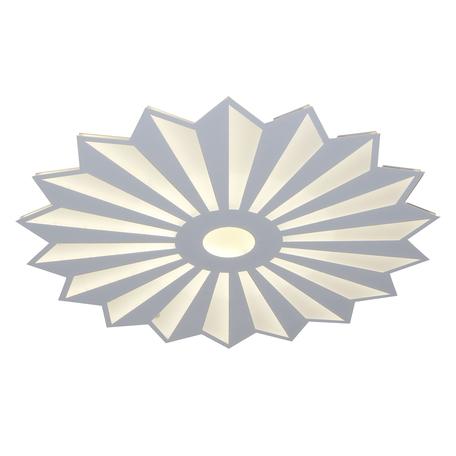 Потолочная светодиодная люстра Kink Light Алтея 05813-18,01, LED 134W 3000-6000K CRI>80, белый, металл, металл со стеклом/пластиком