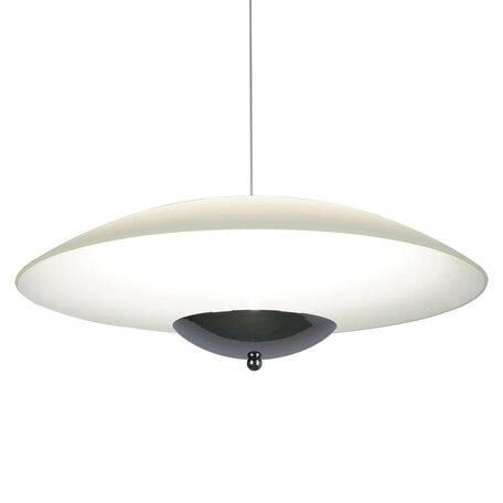 Подвесной светодиодный светильник Arte Lamp Tenda A5015SP-1CC  SALE, LED 24W 3500K 1600lm CRI≥80, хром, белый, металл, стекло