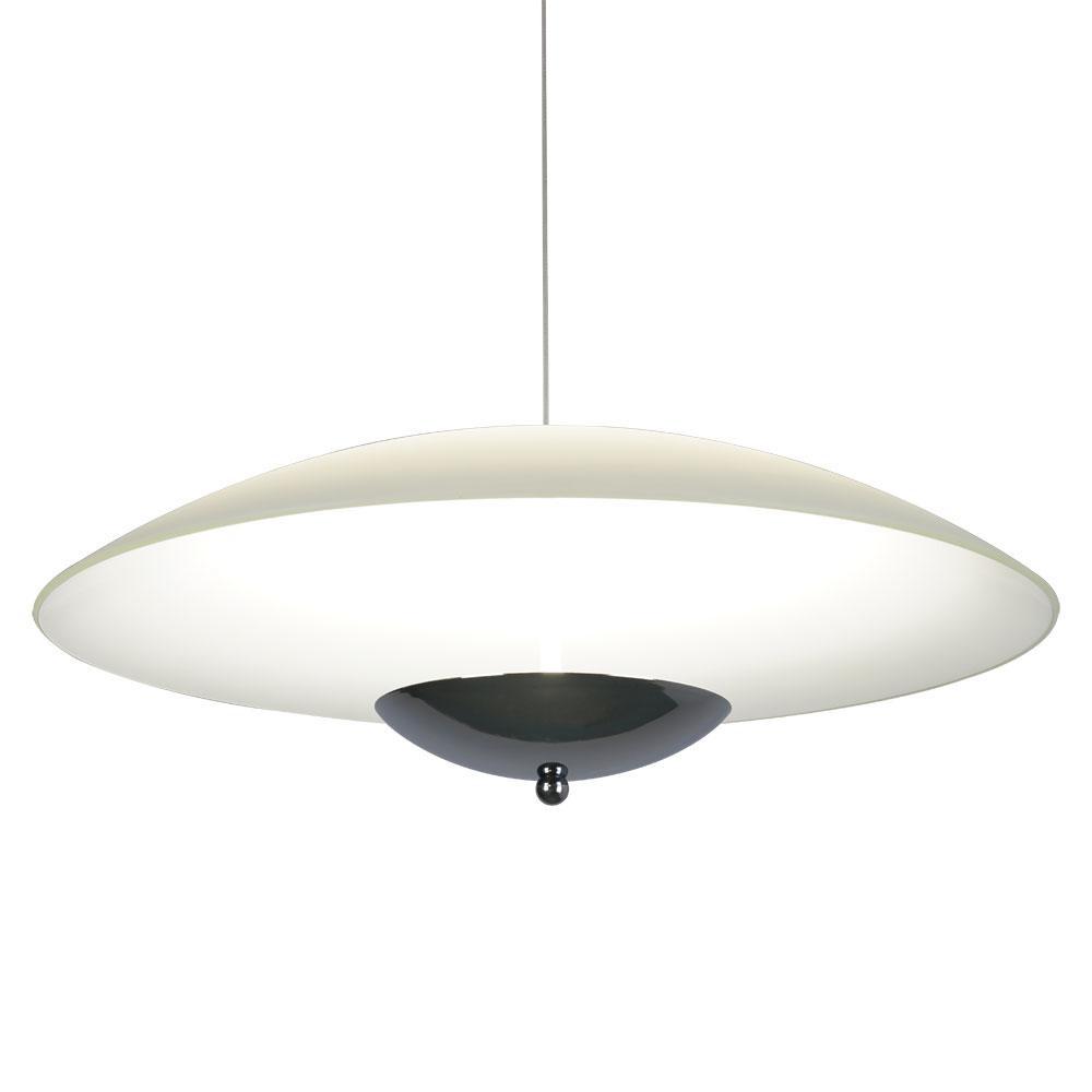 Подвесной светодиодный светильник Arte Lamp Tenda A5015SP-1CC SALE, LED 24W 3500K 1600lm CRI≥80, хром, белый, металл, стекло - фото 1