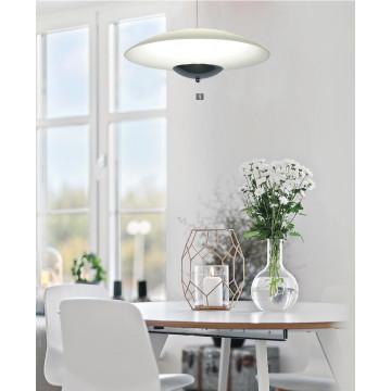 Подвесной светодиодный светильник Arte Lamp Tenda A5015SP-1CC SALE, LED 24W 3500K 1600lm CRI≥80, хром, белый, металл, стекло - миниатюра 2