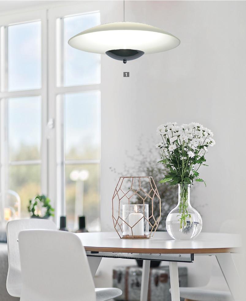 Подвесной светодиодный светильник Arte Lamp Tenda A5015SP-1CC SALE, LED 24W 3500K 1600lm CRI≥80, хром, белый, металл, стекло - фото 2