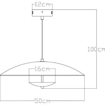 Схема с размерами Arte Lamp A5015SP-1CC  SALE