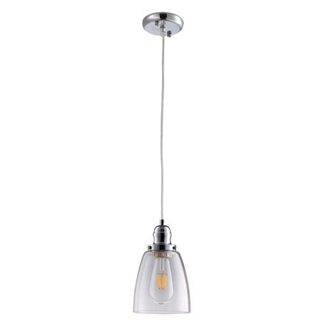 Подвесной светильник Arte Lamp Trento A9387SP-1CC, 1xE27x40W, хром, прозрачный, металл, стекло