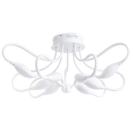 Потолочная светодиодная люстра Arte Lamp Rino A9475PL-9WH, белый, металл, пластик