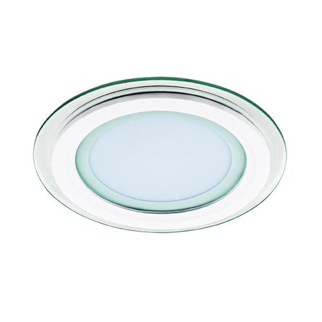 Встраиваемая светодиодная панель Lightstar Acri Cyl 212011, IP44, LED 12W 3000K 780lm, белый, прозрачный, металл со стеклом