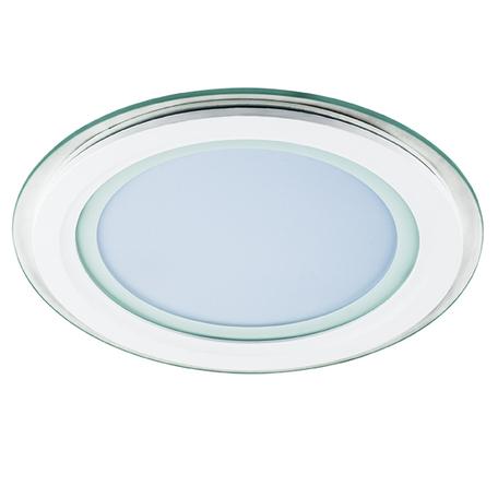Встраиваемая светодиодная панель Lightstar Acri Cyl 212012, IP44, LED 18W 3000K 1250lm, белый, прозрачный, металл со стеклом