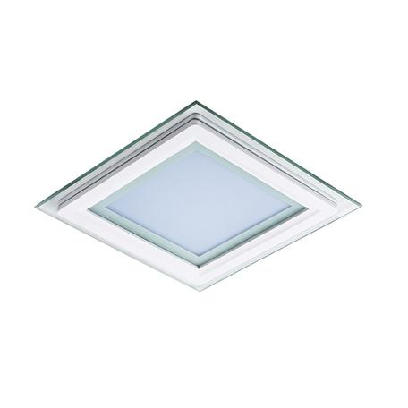 Светодиодная панель Lightstar Acri Qua 212021, IP44, LED 12W 3000K 780lm, белый, прозрачный, металл со стеклом