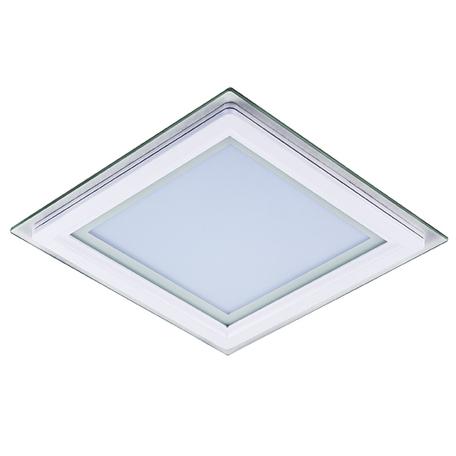 Встраиваемая светодиодная панель Lightstar Acri Qua 212022, IP44, LED 18W 3000K 1250lm, белый, прозрачный, металл со стеклом