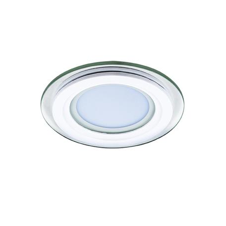 Встраиваемая светодиодная панель Lightstar Acri Cyl 212030, IP44, LED 6W 4000K 280lm, белый, прозрачный, металл со стеклом