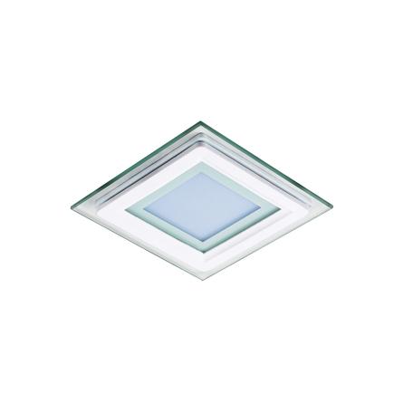 Светодиодная панель Lightstar Acri Qua 212040, IP44, LED 6W 4000K 280lm, белый, прозрачный, металл со стеклом