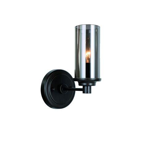 Бра Favourite Kiara 2057-1W, 1xE14x40W, черный, дымчатый, металл, ковка, стекло