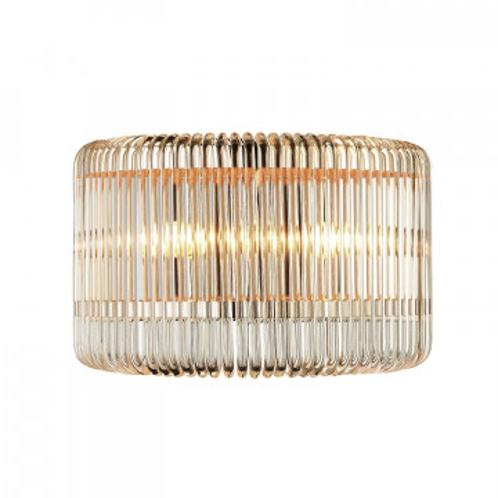 Бра Favourite Negociant 2094-2W, 2xE14x40W, золото, прозрачный, металл, стекло