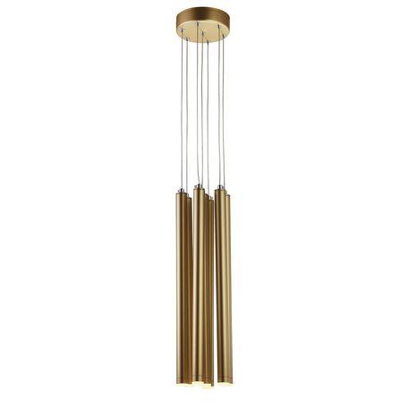 Светодиодная люстра-каскад Favourite Organ 2104-7P, LED 14W 3000K, матовое золото, металл