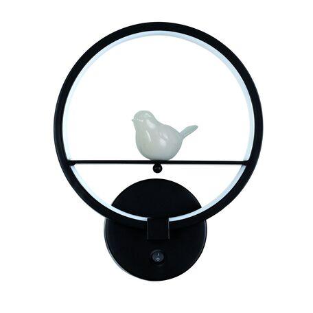 Настенный светодиодный светильник Favourite Passer 2063-1W, LED 12W 4000K, черный, металл, гипс, металл с пластиком, пластик