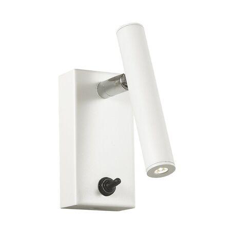 Настенный светодиодный светильник с регулировкой направления света Favourite Cornetta 2122-1W, LED 3W 3000K, белый, металл