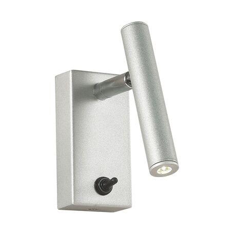 Настенный светодиодный светильник с регулировкой направления света Favourite Cornetta 2123-1W, LED 3W 3000K, серебро, металл