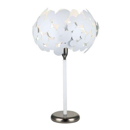 Настольная лампа Favourite Grape 2050-1T, 1xE14x40W, белый, черный хром, металл