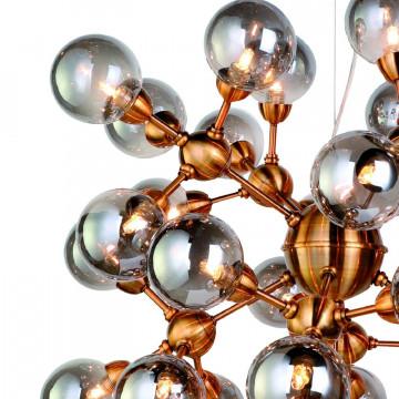 Подвесная люстра Favourite Fraction 2061-36P, 36xG9x3W, золото, дымчатый, металл, стекло - миниатюра 3