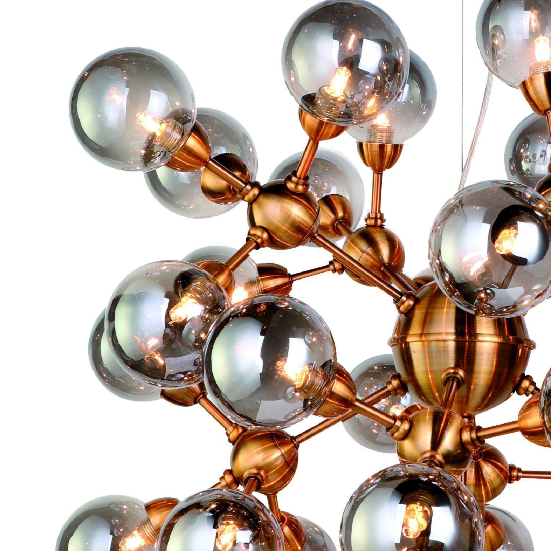 Подвесная люстра Favourite Fraction 2061-36P, 36xG9x3W, золото, дымчатый, металл, стекло - фото 3