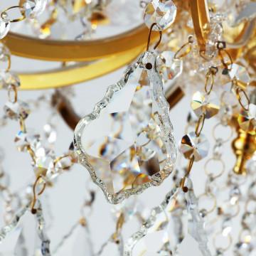 Подвесная люстра Favourite Dazzle 2092-12P, 12xE14x40W, золото, прозрачный, металл со стеклом, хрусталь - миниатюра 2