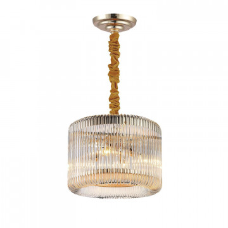 Подвесная люстра Favourite Negociant 2094-4P, 4xE14x40W, золото, прозрачный, металл, стекло