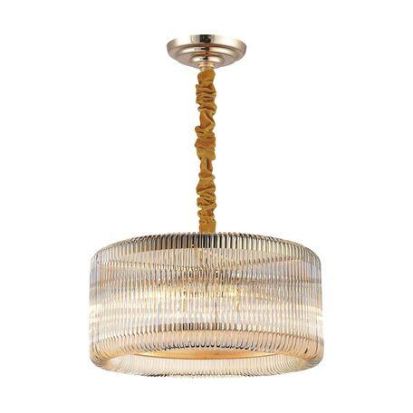 Подвесная люстра Favourite Negociant 2094-6P, 6xE14x40W, золото, прозрачный, металл, стекло - миниатюра 1