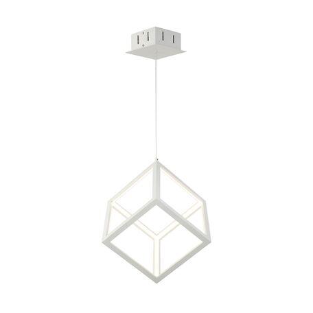 Подвесной светодиодный светильник Favourite Cubus 2051-1P, LED 35W 4000K, белый, металл, металл с пластиком, пластик