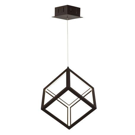 Подвесной светодиодный светильник Favourite Cubus 2052-1P, LED 35W 4000K, черный, металл, металл с пластиком, пластик