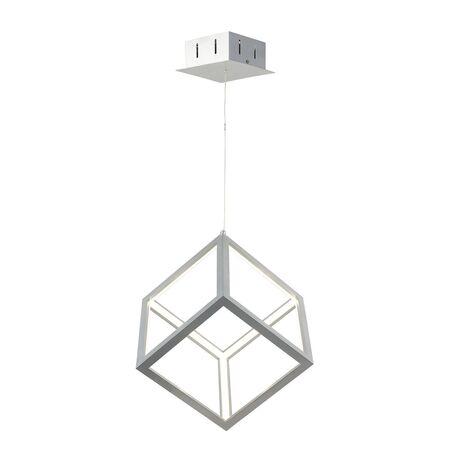 Подвесной светодиодный светильник Favourite Cubus 2053-1P, LED 35W 4000K, серебро, металл, металл с пластиком, пластик