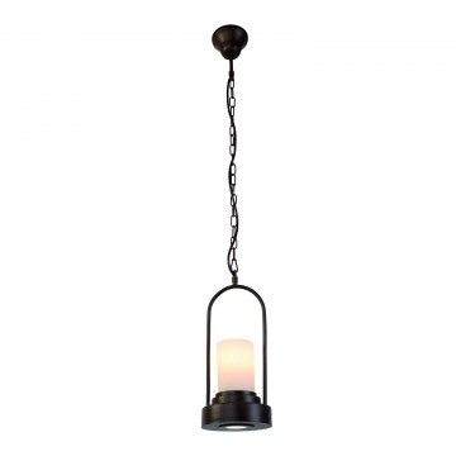 Подвесной светильник Favourite Capanna 2059-2P, 1xE14x40W + LED 3W, коричневый, металл, металл со стеклом