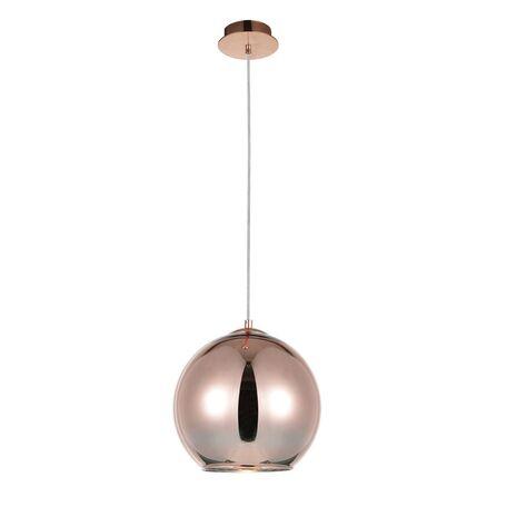 Подвесной светильник Favourite Pink Jazz 2105-1P, 1xE27x60W, медь, золото, металл, стекло