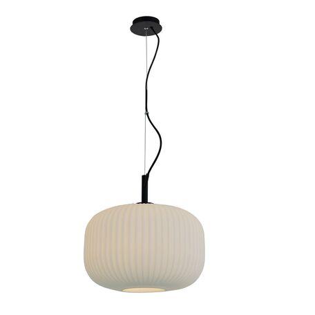 Подвесной светильник Favourite Rice Motif 2110-1P, 1xE27x60W, черный, белый, металл, стекло - миниатюра 1