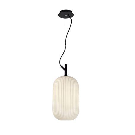 Подвесной светильник Favourite Rice Motif 2111-1P, 1xE27x60W, черный, белый, металл, стекло